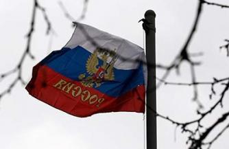 Русский флаг над Новороссией