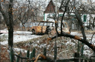 Укропианцы уничтожают Никишино