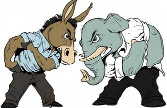 Схватка слона с ослом