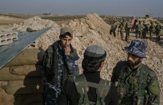 Расстрел правительственных войск в Сирии