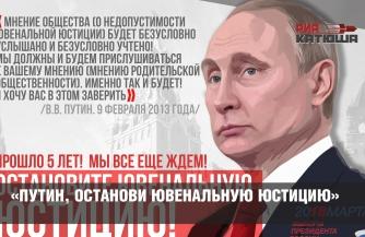 «Путин, останови ювенальную юстицию»!