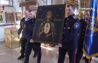 Молебен русских добровольцев