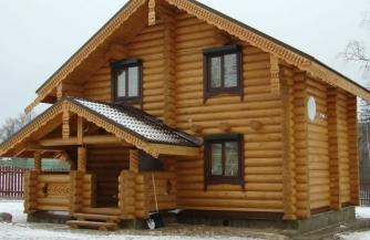 Преимущества дома из натурального дерева