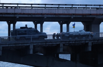 Террорист в украинском флаге