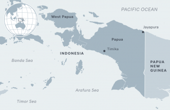 Китай, Индонезия и папуасы