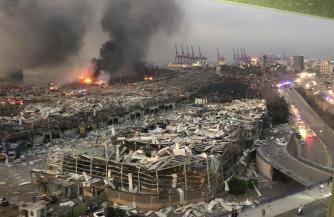 Бейрут в руинах