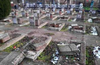 На Украине разгромили захоронения ветеранов ВОВ