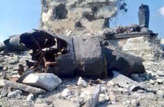 Каратели разрушили солдатский монумент Саур-Могилы