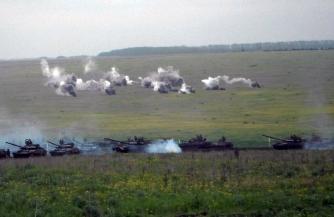 Самарская армия тренирует маневренную оборону и засадные действия